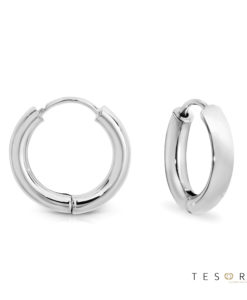 Atrani White Gold Huggie Earrings 10mm