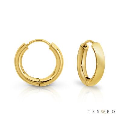 Atrani Yellow Gold Huggie Earrings 10mm