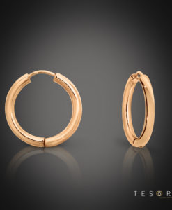 Tesoro Rose Gold 15mm Huggie Earrings