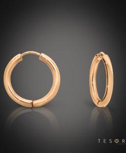 Tesoro Rose Gold 15mm Huggie Earrings