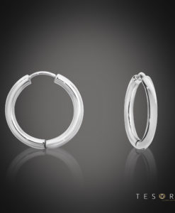 Tesoro Atrani White Gold Huggie Earrings