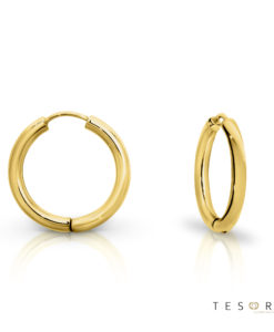 Tesoro Atrani Yellow Gold Huggie Earrings