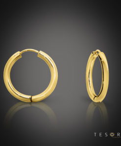 Tesoro Atrani Yellow Gold Huggie Earrings