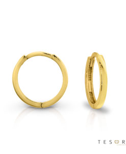 Tesoro Capo Yellow Gold Huggie 8mm