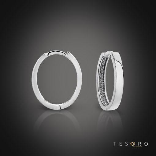 Tesoro Bienno White Gold Earrings