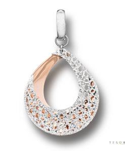 Tesoro Ancona Rose & White Gold Pendant