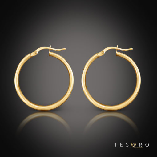 Tesoro Celestine 20mm Gold Hoop Earrings