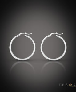 Celestine White Gold Hoop Earring 10mm