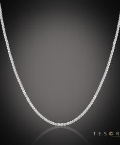 Tesoro Cascina White Gold Diamond Cut Wheat Link Chain