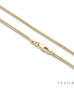 Tesoro Desio Yellow Gold Wheat Link Chain