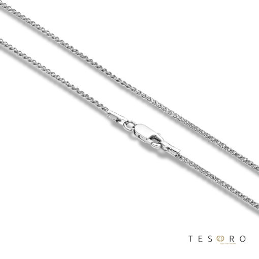 Desio White Gold Wheat Link Chain