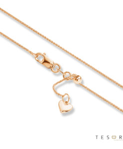 Tesoro Bosco Rose Gold Extender Chain 90cm