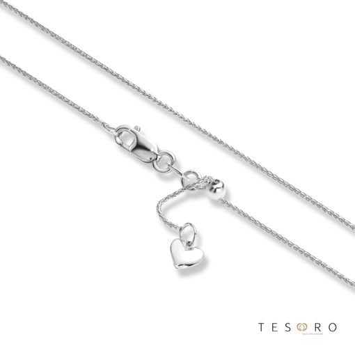 Tesoro Bosco White Gold Extender Chain