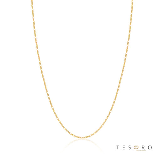 Tesoro Lorenzo Yellow Gold Adjustable Belcher Link