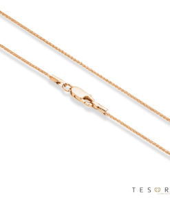 Cascina Rose Gold Diamond Cut Wheat Link Chain