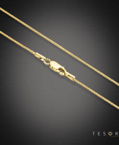 Cascina Yellow Gold Diamond Cut Wheat Link Chain