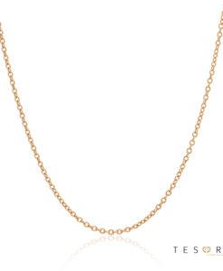 Tesoro Caserta Rose Gold Adjustable Trace Link Chain