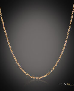 Tesoro Caserta Rose Gold Adjustable Trace Link Chain