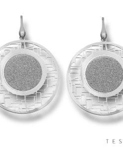 Faenza Silver Dangle Earrings