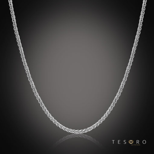 Tesoro Forlì 2mm Thickness Wheat Link Chain