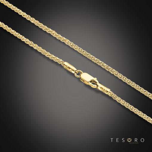 Tesoro Forlì 2mm Thickness Wheat Link Chain