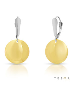 Borromei Yellow & White Gold Dangle Earrings