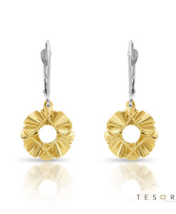 Savona Yellow & White Gold Dangle Earring