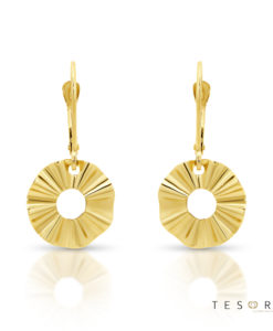 Tivoli Yellow Gold Dangle Earring