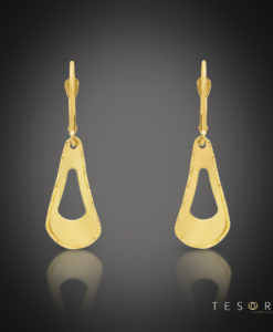 Scandicci Yellow Gold Tear Profile Earrings