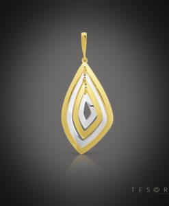 Sassi Yellow & White Gold Pendant