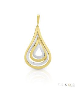 Armeno Yellow & White Gold Tear Pendant