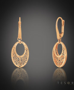 Tesoro Rose Gold Oval Earrings