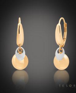Ponza Rose & White Gold Dangle Earrings