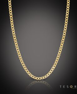 Vasto 4mm Yellow Gold Chain