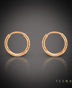 Ortona 10mm Rose Gold Diamond Cut Sleeper