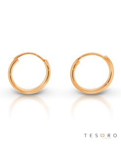 Marche Rose Gold 10mm Sleeper Tesoro Earrings