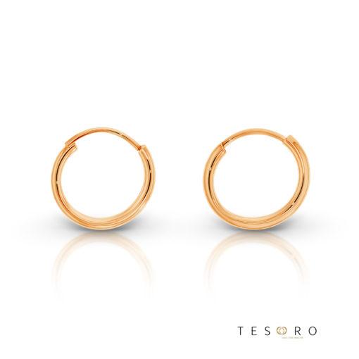 Marche Rose Gold 10mm Sleeper Tesoro Earrings