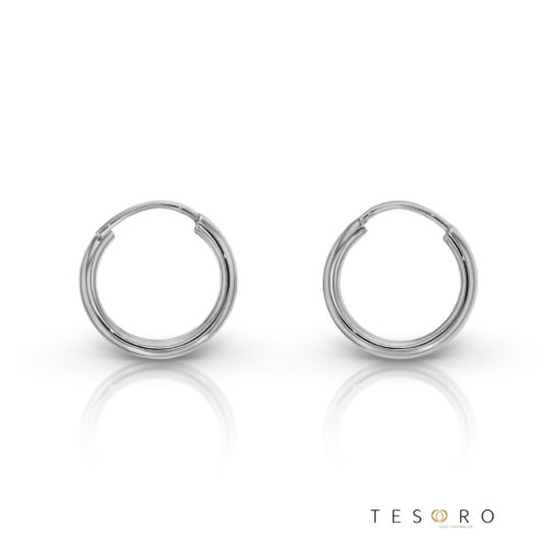 Marche 10mm 9 Carat White Gold Sleeper Earrings