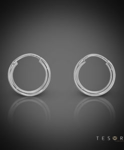 Marche 10mm 9 Carat White Gold Sleeper Earrings