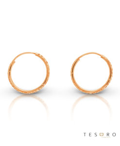 Ortona 15mm Rose Gold Diamond Cut Sleeper