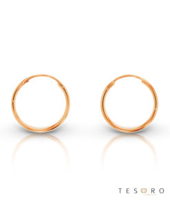 Marche 15mm 9 Carat Rose Gold Sleeper Earrings