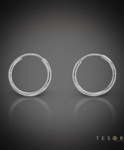 Marche 15mm White Gold Sleeper Earring