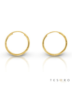 Marche 15mm Plain Sleeper Tesoro Earring