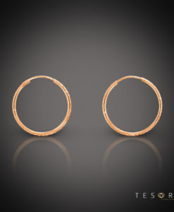 Ortona 20mm Rose Gold Diamond Cut Sleeper