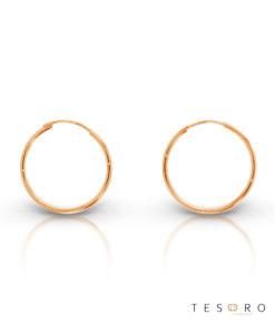 Marche 20mm 9 Carat Rose Gold Sleeper Earrings