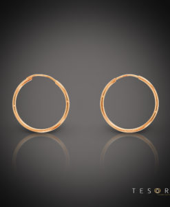 Marche 20mm 9 Carat Yellow Gold Sleeper Earrings