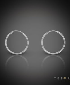 Marche 20mm 9 Carat White Gold Sleeper Earrings