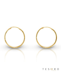 Marche 20mm 9 Carat Gold Sleeper Earrings