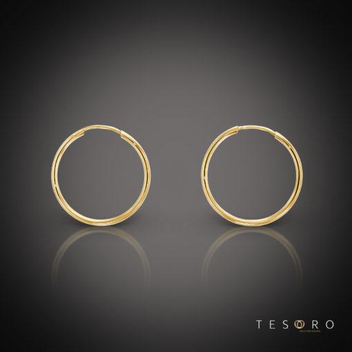 Marche 20mm 9 Carat Gold Sleeper Earrings