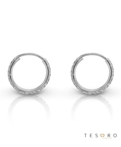 Ortona 10mm White Gold Diamond Cut Sleeper